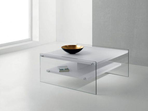 Glass and wooden table Maxim