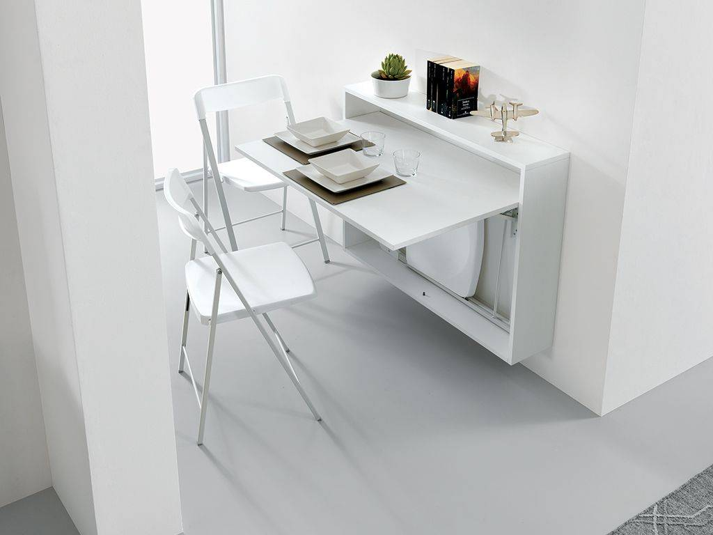 Folding table desk bureau