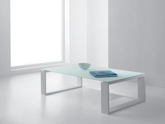 ADONE small table in glass and steel