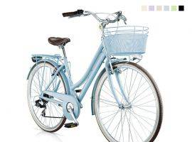 Boulevard Woman with basket Urban-Bike style bicycle