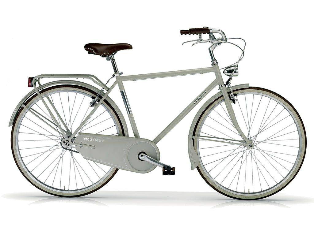 Old Style Bicycle Moonlight Man