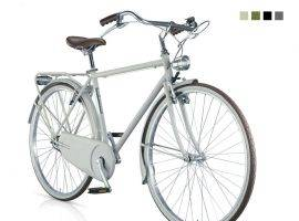Old-Style Bicycle Moonlight Man