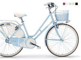 Vintage bicycle with oval basket Riviera woman