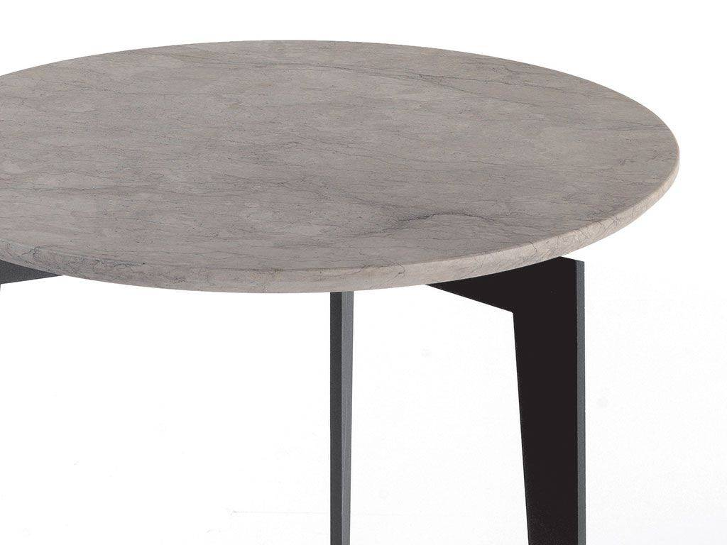 table basse ronde avec plateau en marbre nordic. Black Bedroom Furniture Sets. Home Design Ideas