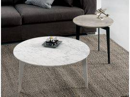 Round Coffee Table with Marble support plan Nordic
