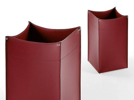 Leather basket Quadro