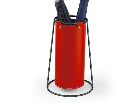 Leather Umbrella stand Verniciato
