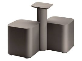 Pouf and table in polyethylene Friends