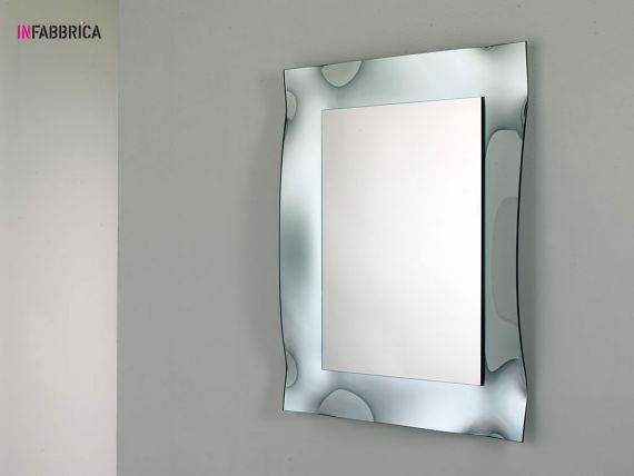 Mirror in curved glass Posidonia