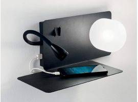Mensola con lampada Led e Usb Book