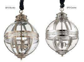 Metal and glass hanging lamp WORLD SP3