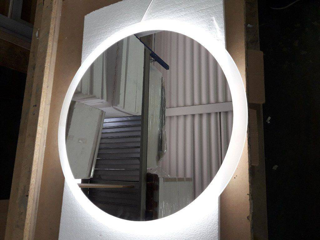 Sole round bathroom mirror with led - Round bathroom mirror with lights ...