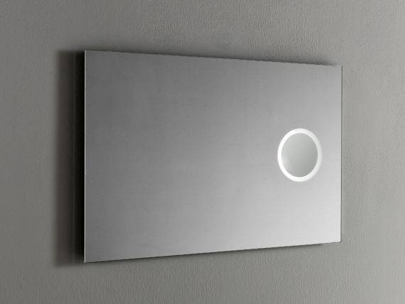 Wall mirror with magnifying illuminated Trucco