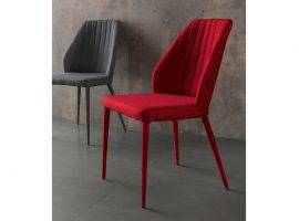 Metal and fabric chair Dirk