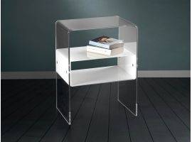 Bedside table with shelf Vega