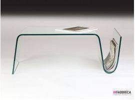 Coffee table in curved glass Virgola