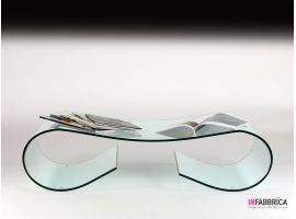 Glass coffee table Ricciolo