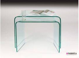 Pair of glass coffee tables Abbraccio