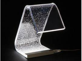Acrylic crystal Design table lamp C-LED Degradè
