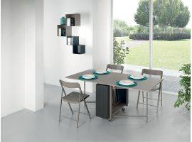 Closable table with chairs Archimede C