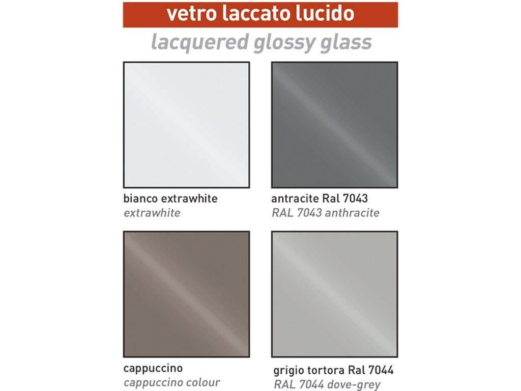 Color Tortora Ral 7044 extendible glass table twist