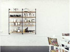Design wall bookcase Pipe H120 Double