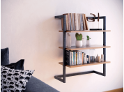 Wooden Wall Bookcase Step