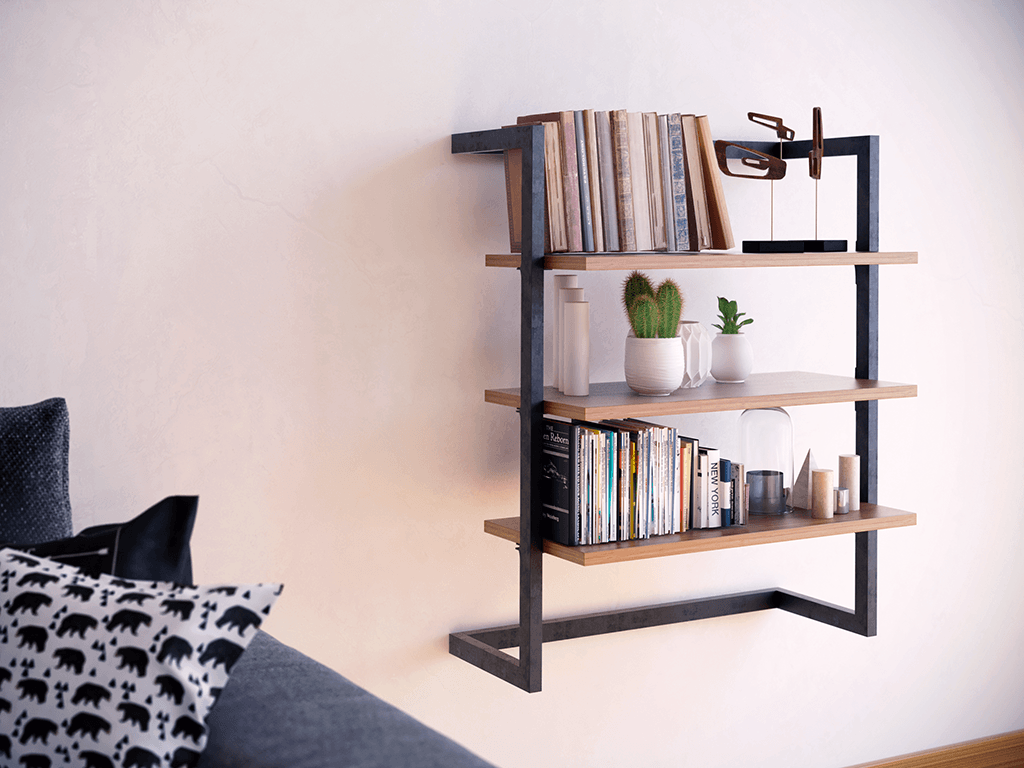 step shelves living room wooden wall bookcase step 16190