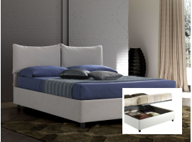 Upholstered double bed with container Carolina