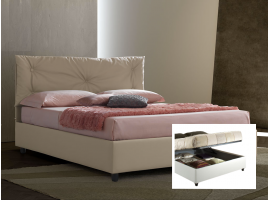 Upholstered double bed with container Vittoria
