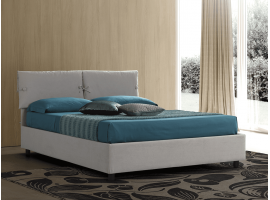 Upholstered bed with fixed base Vittoria