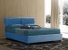 Upholstered bed with fixed base Sissi
