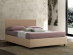 Sommier upholstered double bed with container