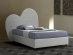 Heart 120 upholstered bed