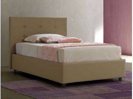 Upholstered bed with fixed base Isabella
