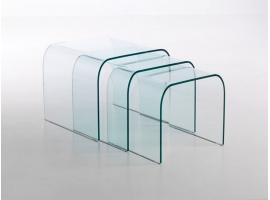 Curved crystal small table Tunnel Tre