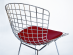 Bertoia chair in chromed metal