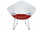 Bertoia DIAMOND B chromed metal armchair