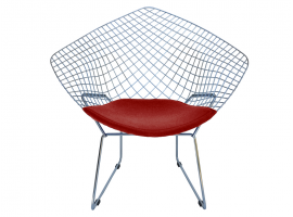 Bertoia DIAMOND B Poltroncina in metallo cromato