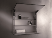 Box mirror for bathroom Cassiopea