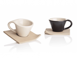 Ceramic coffee set Faenza