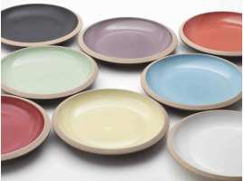 Set of ceramic plates Giotto