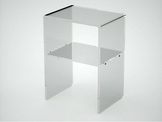 Table de nuit en Plexiglas Nora