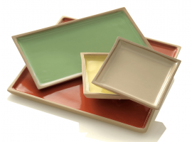 Ceramic trays set Game
