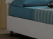 Upholstered single bed with fixed base Sissi