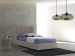 Upholstered bed with fixed base Lucrezia