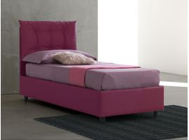 Upholstered single bed with fixed base Lucrezia