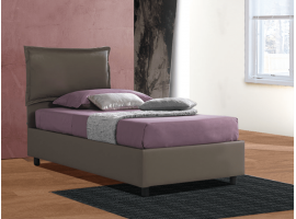 Upholstered single bed with fixed base Antonietta