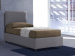 Upholstered single bed with fixed base Margherita