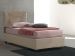 Upholstered single bed with fixed base Vittoria